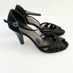 Coach Pamela Satin Heels Open Toe Strappy Sandals